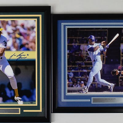 Bo Jackson & Jose Canseco signed large format photos in...