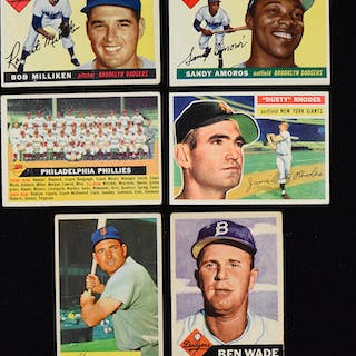 Lot of (46) baseball cards from 1953-1956 (FR/GD-EX)