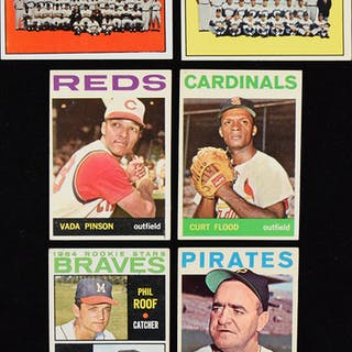 Lot of (190) 1964 Topps Baseball cards including Niekro rookie (PR-EX/MT)