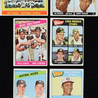Lot of (184) 1965 and 1966 Topps Baseball cards including Catfish Hunter