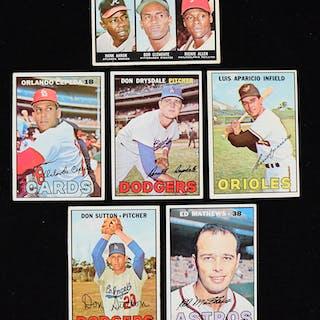 Lot of (216) 1967 Topps Baseball cards (PR-EX/MT)