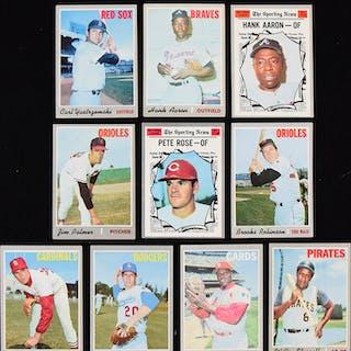 Lot of (545) 1970 Topps Baseball cards (PR-NM)
