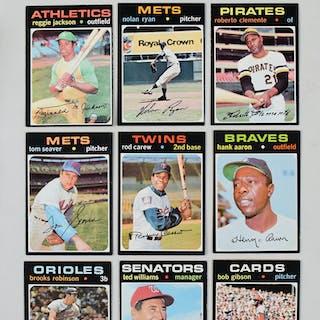 Lot of (589) 1971 Topps Baseball cards (PR-EX/MT)