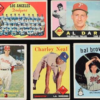 Lot of (106) Topps Baseball cards from 1957-1960 (PR/FR-EX)