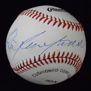 Roy Campanella single signed baseball (EX/MT-NM) Rawlings...