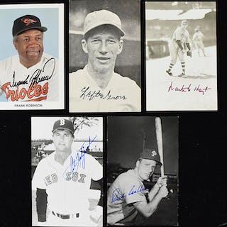 Lot of (13) Baseball Hall of Famer signed postcards...