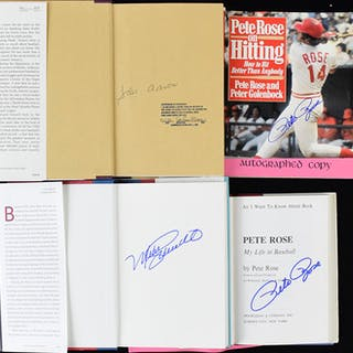 Lot of (12) Baseball Hal of Famer and star signed books...