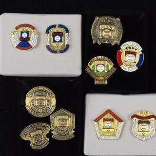 1991-2008 Hall of Fame retroactive press pins (27 pins in...