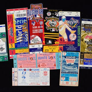 Lot of (36) 1964-1999 World Series