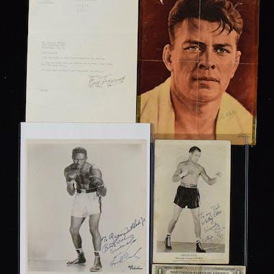 Lot of (5) boxer autographs incl
