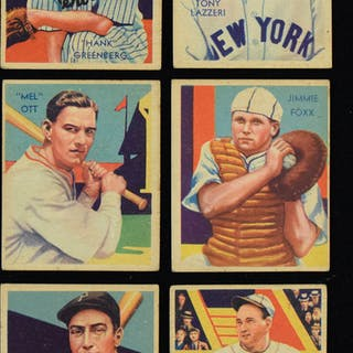 1935 Diamond Stars partial set (75 of 111 cards)...