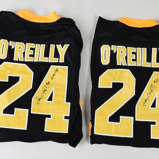 Lot of (3) Terry O'Reilly signed Boston Bruins jerseys...