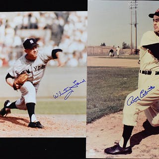"Whitey Ford and Rocky Colavito signed 16""x20"" photographs (NM-NM/MT)"