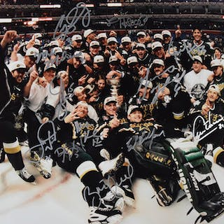 """1998-99 Dallas Stars signed limited edition 16""""x20"""" photograph - Steiner (NM)"""