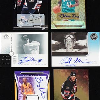 Mixed sports lot of (27) signed insert cards (NM-NM/MT overall)