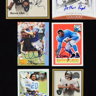 Lot of (58) signed football insert cards (NM-NM/MT overall)