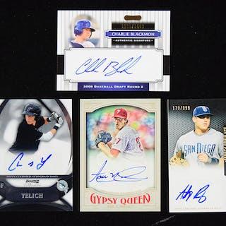 Lot of (8) modern player signed baseball insert cards...