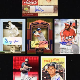 Lot of (163) signed baseball insert cards (NM-NM/MT overall)