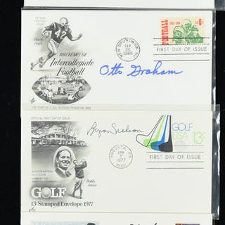 Lot of (21) signed commemorative postal covers including HOFers (NM overall)