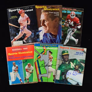 Lot of (31) signed issues of Sports Illustrated from 1963-2005 (GD-NM)