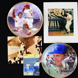 Large lot of assorted baseball autographs including HOFers (GD-NM/MT)