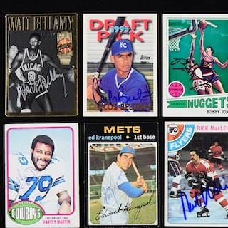 Lot of (99) signed baseball