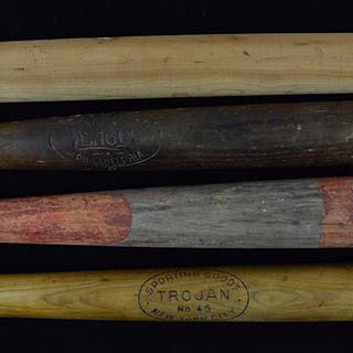 Lot of (10) vintage bats including Louisville Slugger