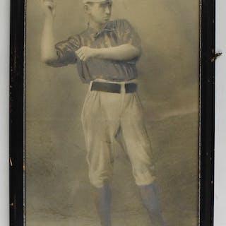 Mike Mattimore vintage photograph - Old Judge image (EX framed)
