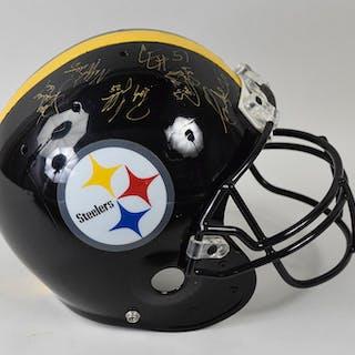 1996 Pittsburgh Steelers multi-signed professional model football helmet (EX)