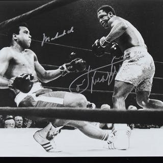 "Muhammad Ali and Joe Frazier signed 8""x10"" photograph..."