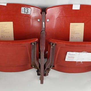 Connected pair of Busch Stadium seats - MLB Authenticated (EX-EX/MT)