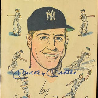 Mickey Mantle signed 1957 comic book (EX)