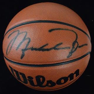 Michael Jordan autographed basketball (UDA) (NM) Wilson...