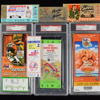 Mixed sports lot of (13) tickets from 1949-2016 (GD-MT)