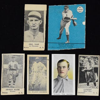 Lot of (6) vintage baseball cards from 1910-1941 (PR-VG/EX)