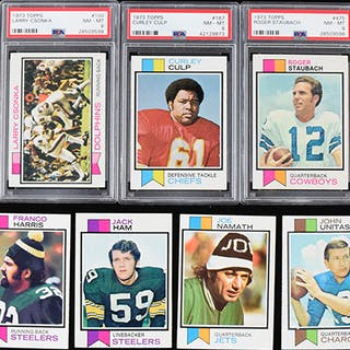High grade 1973 Topps Football near complete set only...