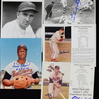 """Lot of (15) Baseball HOFers signed 8""""x10"""" photographs (NM overall)"""