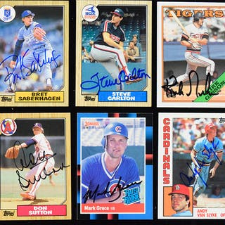Lot of (15) star player signed baseball cards (EX-NM) Signers incl