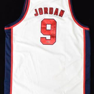 Michael Jordan autograph Team USA Basketball jersey (UDA hologram) (Sig