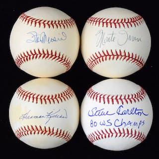 Lot of (7) stars and HOFers signed baseballs (VG/EX-NM)