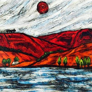 Capper, Steve (1944 – ) The Lake II - Trent Art