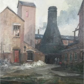 Taylor, Ivan (1946 – ) Blue Kiln Middleport - Trent Art