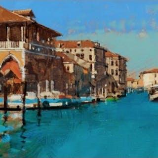 Sawyer, David RBA (1961 - ) The Fish Market, Venice - Trent Art
