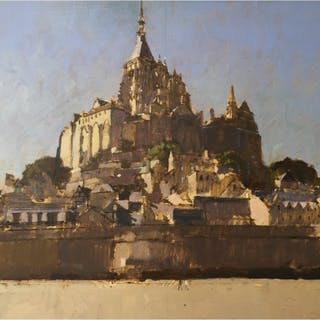 Sawyer, David RBA (1961 - ) Mont St Michel, View from the Sands - Trent Art