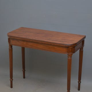 Regency Mahogany Card Table in the Manner of Gillows - Nimbus Antiques