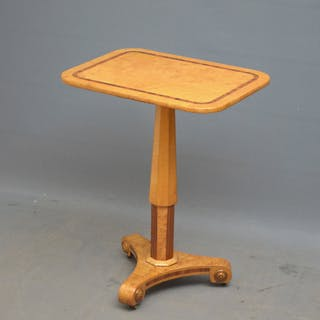 Elegant Biedermeier Bird's Eye Maple Occasional Table - Nimbus Antiques