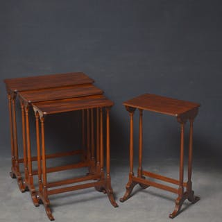 Regency Nest of 3 + 1 Mahogany Tables - Nimbus Antiques