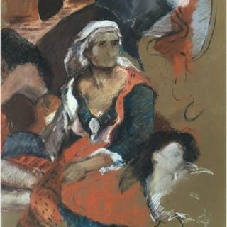 Howard, Ghislaine (1953 – ) The Massacre at Chios after Delacroix - Trent Art