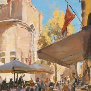 Pointon, Rob (1982-) Lunch in front of Santi Giovanni e Paolo, Venice