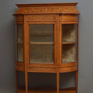 Low Edwardian Inlaid Display Cabinet - Nimbus Antiques